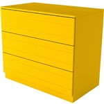 Cômoda Amarela Eugênia 3 Gavetas Listras Horizontais - Orb