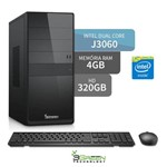 Computador 3green Intel Dual Core J3060 4GB 320GB Hdmi USB 3.0