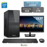 Computador 3green Intel Dual Core J3060 4gb 320gb com Monitor Led 15.6 Mouse Teclado Hdmi USB 3.0