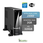 Computador 3green Slim Intel Dual Core J3060 2gb 320gb Wifi Hdmi USB 3.0