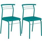 Conjunto 2 Cadeiras 1708 Turquesa