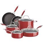 Conjunto de Panelas em Alumínio Esmaltado 6 Peças Vermelho - KitchenAid