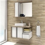 Conjunto para Banheiro Balcony Blanc 80 / Linea / Blanc 80 Artico/Merlot