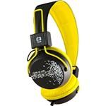 Fone de Ouvido com Microfone MI-2358RY Preto e Amarelo P2 C3 TECH