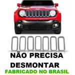 Jeep Renegade Grade Dianteira Cromada Moldura 7 Arcos PCD ((ATÉ 2018))