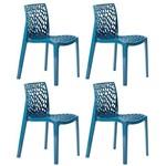 KIT - 4 X Cadeiras Gruvyer - Polipropileno - Turquesa