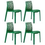 KIT - 4 X Cadeiras Gruvyer - Polipropileno - Verde