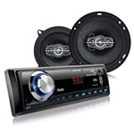 Kit Automotivo Multilaser Mp3 + 2 Alto Falantes 6 + 2 Alto Falante 5 Au951