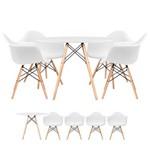 KIT - Mesa Eames 80 Cm Branco + 3 Cadeiras Eames DSW