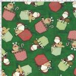 Tecido Estampado para Patchwork - Bolsinho Papai Noel DN004 (0,50x1,40)