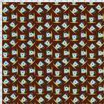 Tecido Estampado para Patchwork - Coleção Cozinha Mini Xícaras Café (0,50x1,40)