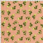 Tecido Estampado para Patchwork - Coleção Floral Paris Mini Botões Rosa Antigo (0,50x1,40)
