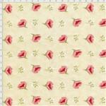 Tecido Estampado para Patchwork - Coleção Romance Botão Romance Creme (0,50x1,40)
