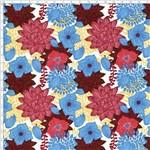 Tecido Estampado para Patchwork - Dalias Fundo Creme T04702 (0,50x1,40)